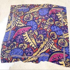2/12$ Vintage colorful fruit scarf